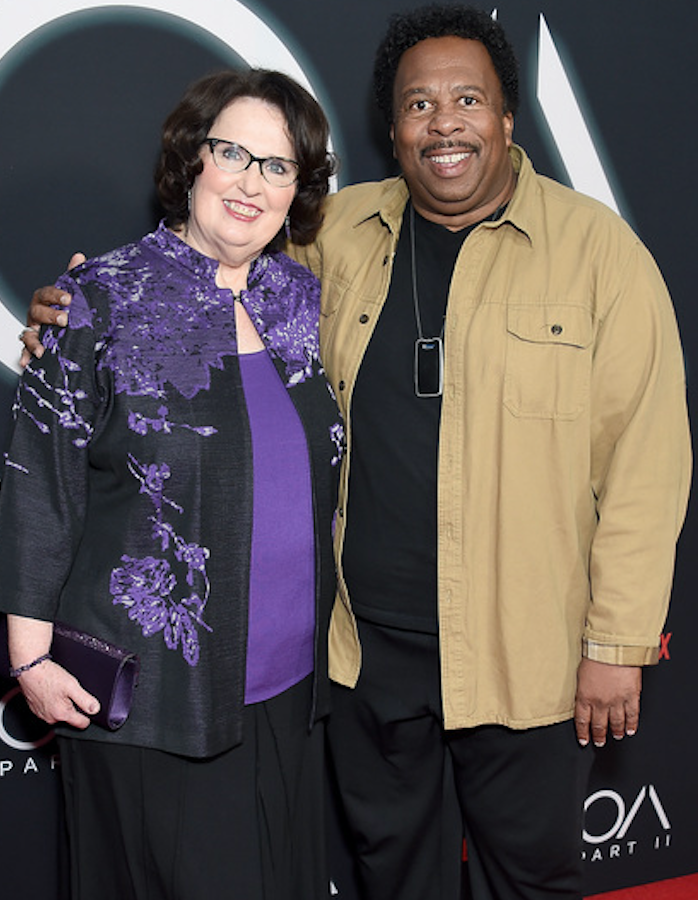 We&#39;re a month away from #NationalPretzelDay and after last night&#39;s #TheOffice reunion it&#39;s clear that Stanley MIGHT let Phyllis cut in line on pretzel day. <br>http://pic.twitter.com/g0nxcWJpBV