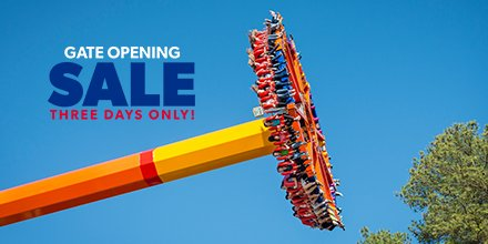 Save on tickets and join us for Opening Day on March 30! Passholders can score Bring-a-Friend tickets for just $24.99 now through March 21 during our gate Opening Sale! 🎟️: https://bit.ly/2OcR4Gm  Online only. Tix valid through June 30.