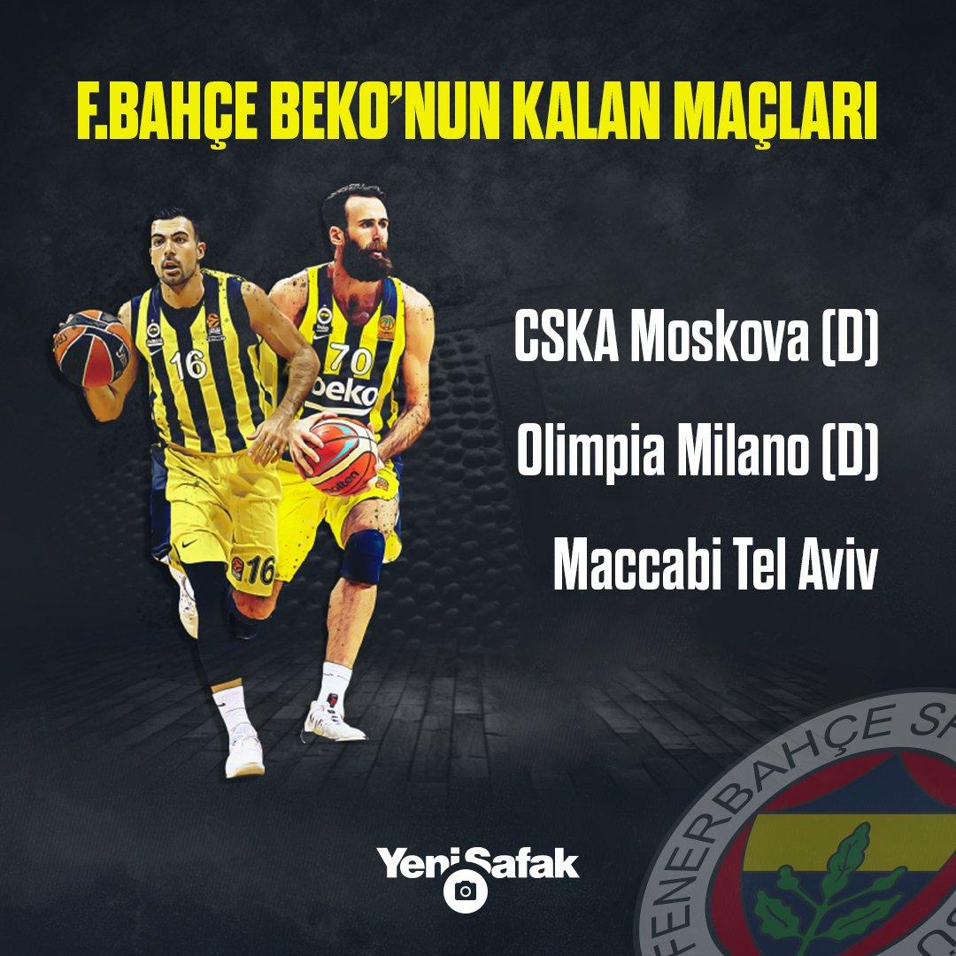 Fenerbahçe Beko ve Anadolu Efes'in #Euroleague'deki kalan maçları.
