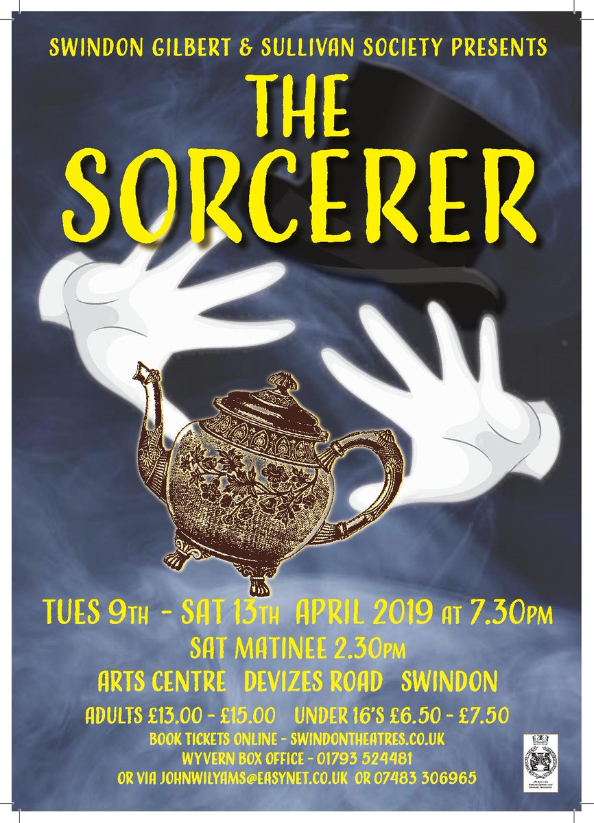 Come and see The Sorcerer 9-13 April at @SwindonArtsCent: Love! Comedy! Daemonology! Magicks!