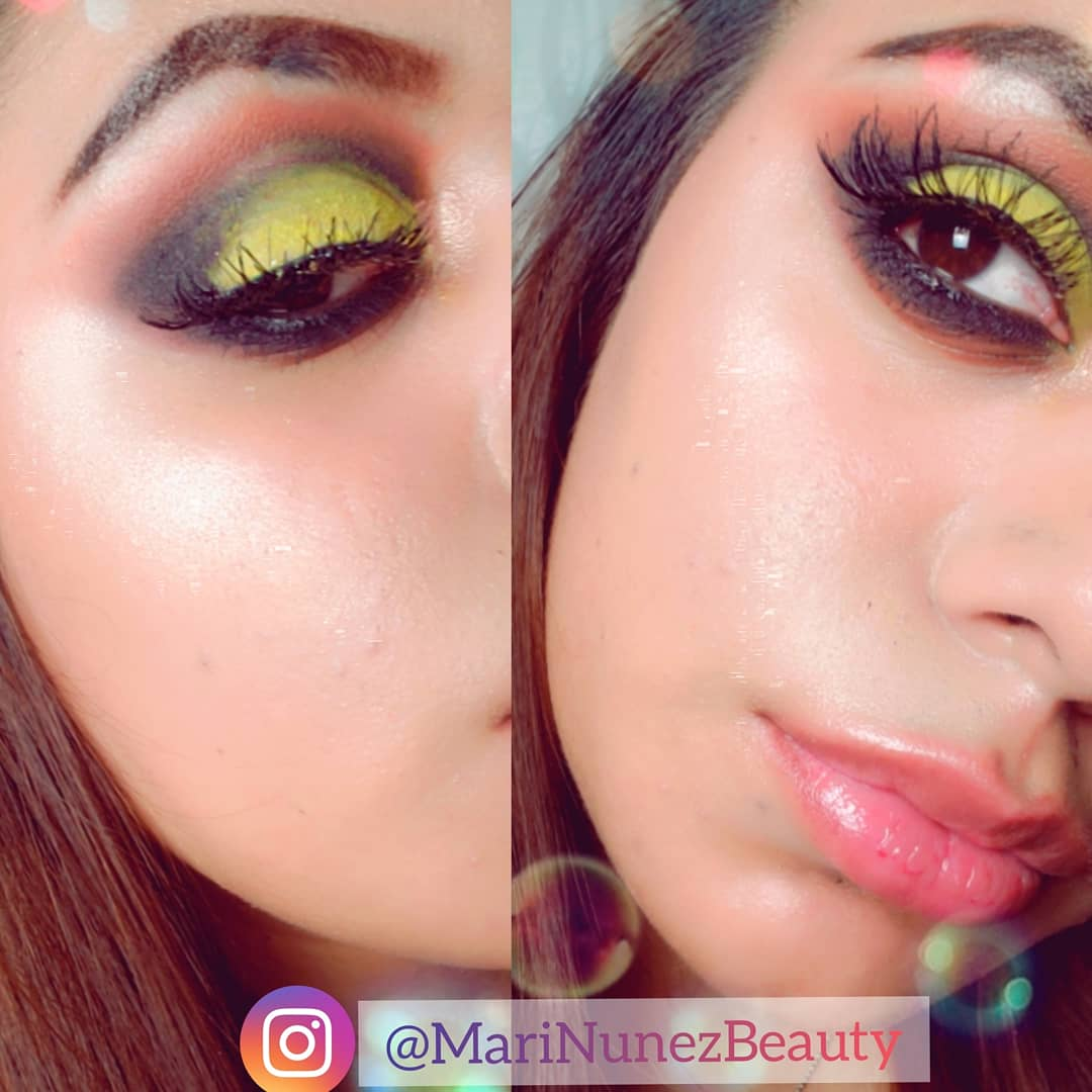 Black & Yellow Smokey Eye Look  @kissproducts Flirty Lashes  #MariaNunez  #MariNunezBeauty #FeelGoodLookGood #makeup #maquillaje  #maquillajedeojos #tutorial #eyeshadowtutorial #blackandyellow #springbreak #smokeyeye #lashes #kiss #brazil #latina #style  #maquillajedeldiapic.twitter.com/AO5W2stpDb