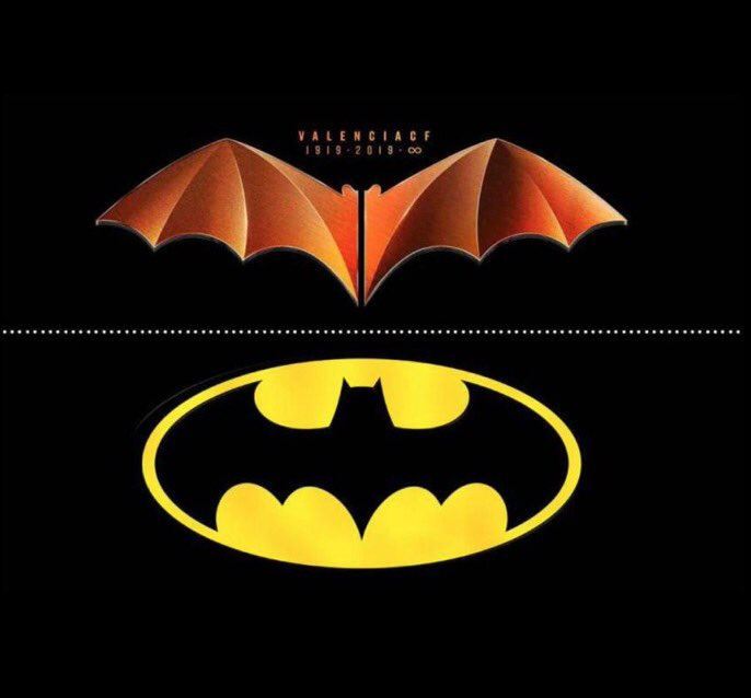 """DC Comics are suing Valencia for their 100 year anniversary crest.  Valencia's response: """"When this team was already playing with a bat on their chest, people in the United States were still chasing buffalo.""""  😂😂"""