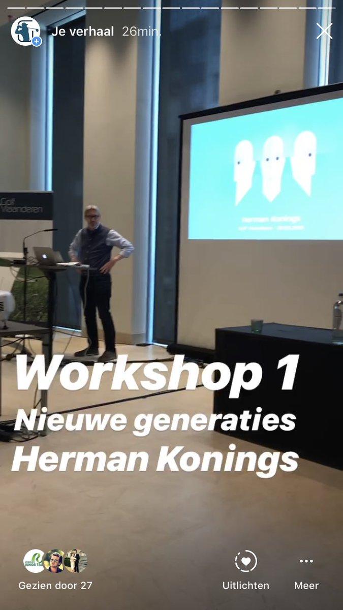 #inspiratiedag <strong>@golfvlaanderen</strong> workshop 1 : nieuwe generaties door <strong>@soeproza</strong> https://t.co/BMWH7L2thg