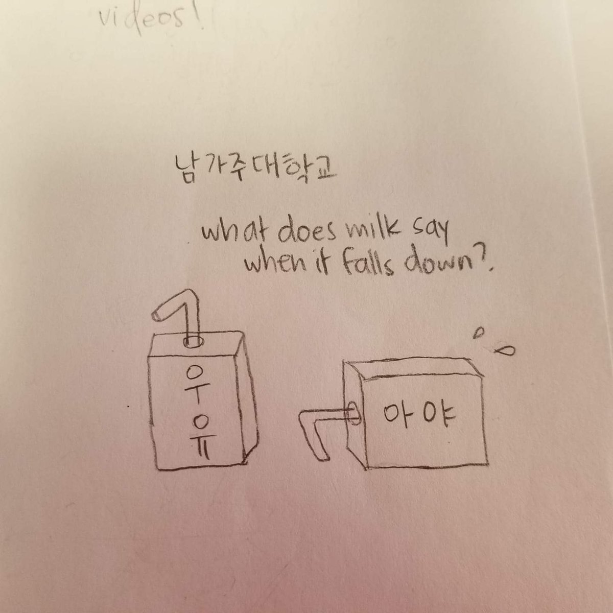 Korean joke by a student from USC Korean class