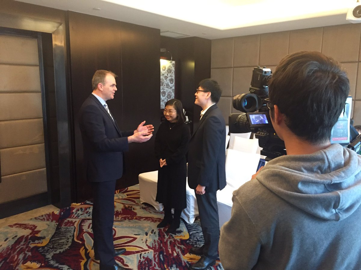 On air with China Global TV tonight from #Shanghai talking @Education_Ire int'l students, #StPatricksDay & #Brexit