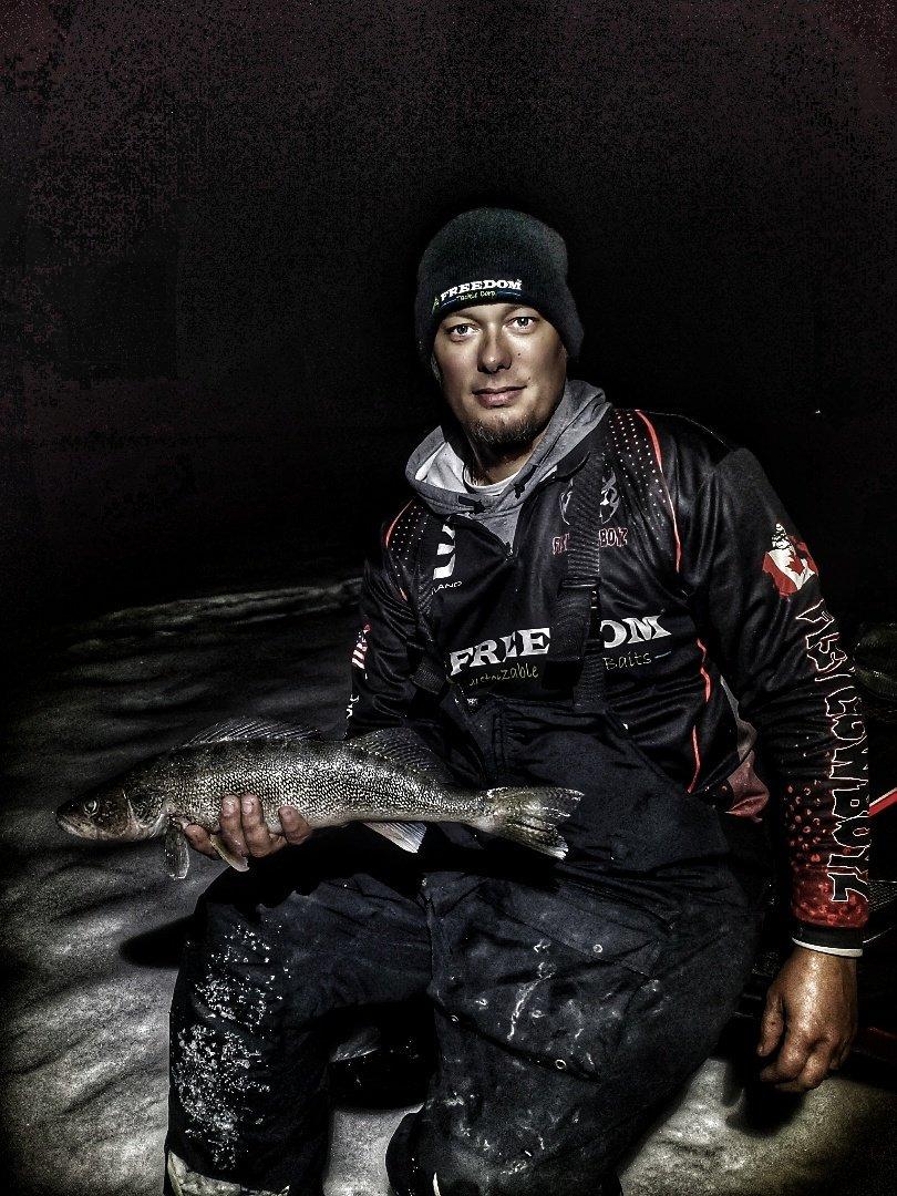 Moon-Lit Walleye!  #Freedomtackleco #hammeredspoon #howdoyouswing #13fishing #makeyourownluck #myol #walleye #icefishing #fishing #FishCowboyz #ftc #AquaVu #CortlandLine #FeelThePull #NeverEnough #NeverGiveUp #photooftheday #Algoma #fishinglife