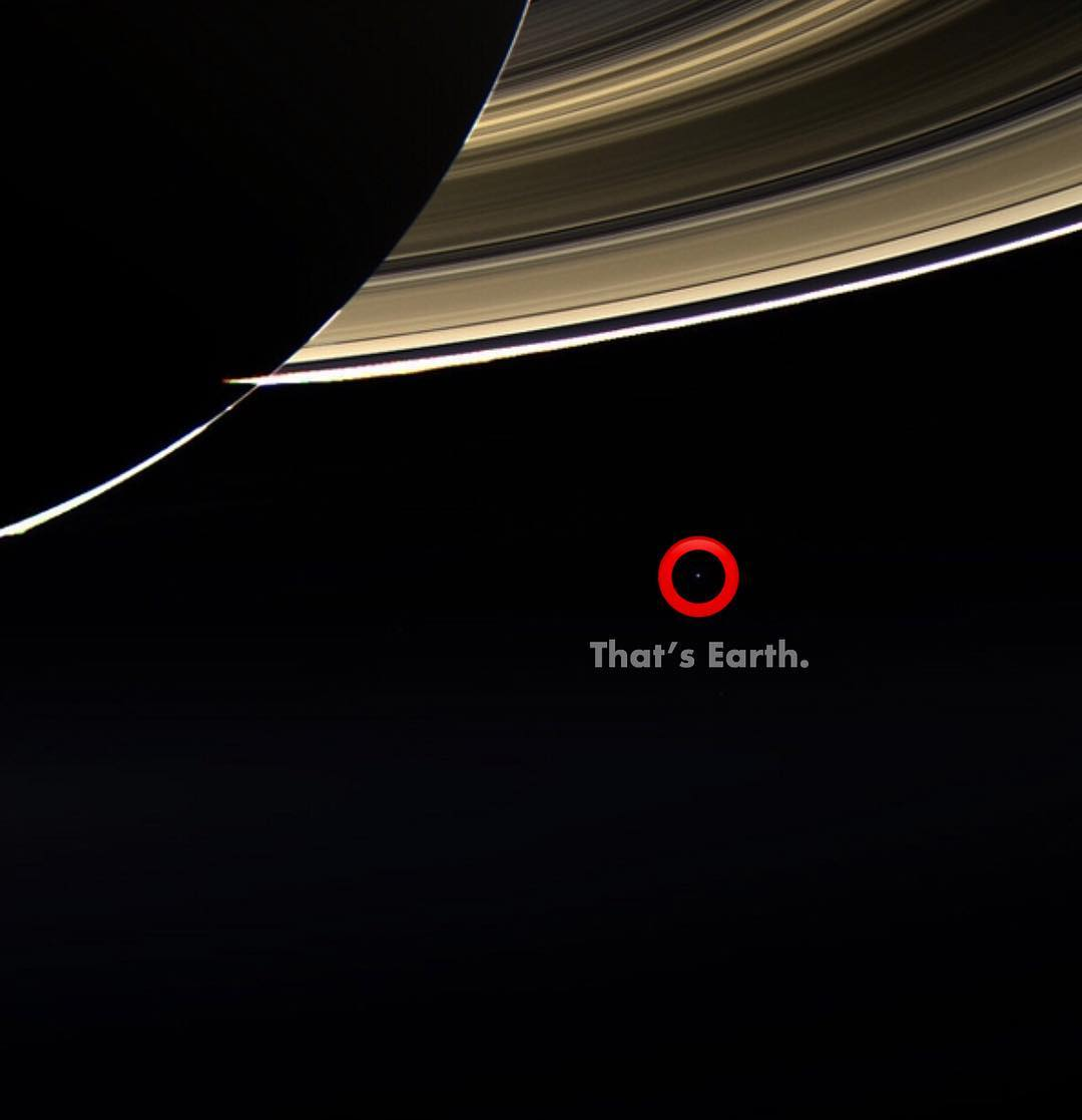 earth from saturn - 976×1019