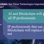 Image for the Tweet beginning: #AI and #Blockchain: Are These