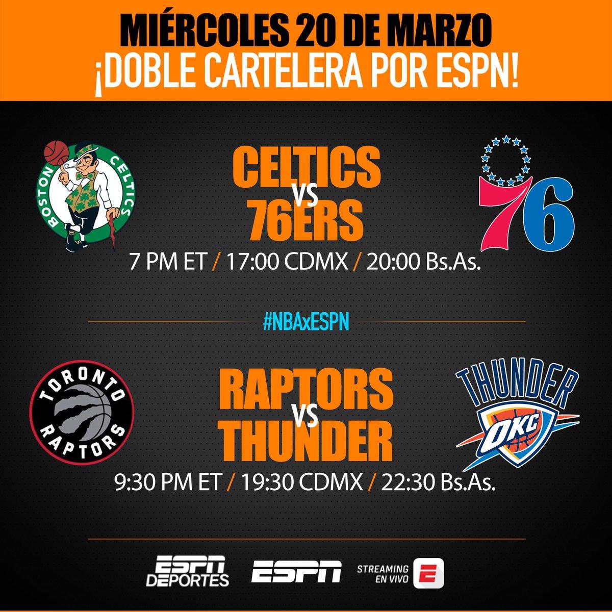 Esta noche, otros dos interesantísimos partidos, por todas las plataformas de ESPN. En el primero estaremos junto a @FerAlvarez. En el segundo relatan y comentan @AleRPerez y @mnogueira14. Consultar http://guia.espn.com para más información.