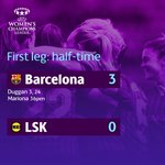 Is there any stopping @FCBfemeni? They are in control so far against @LSKKvinner ⚽⚽⚽ #UWCL https://t.co/KzqKlaSUTD