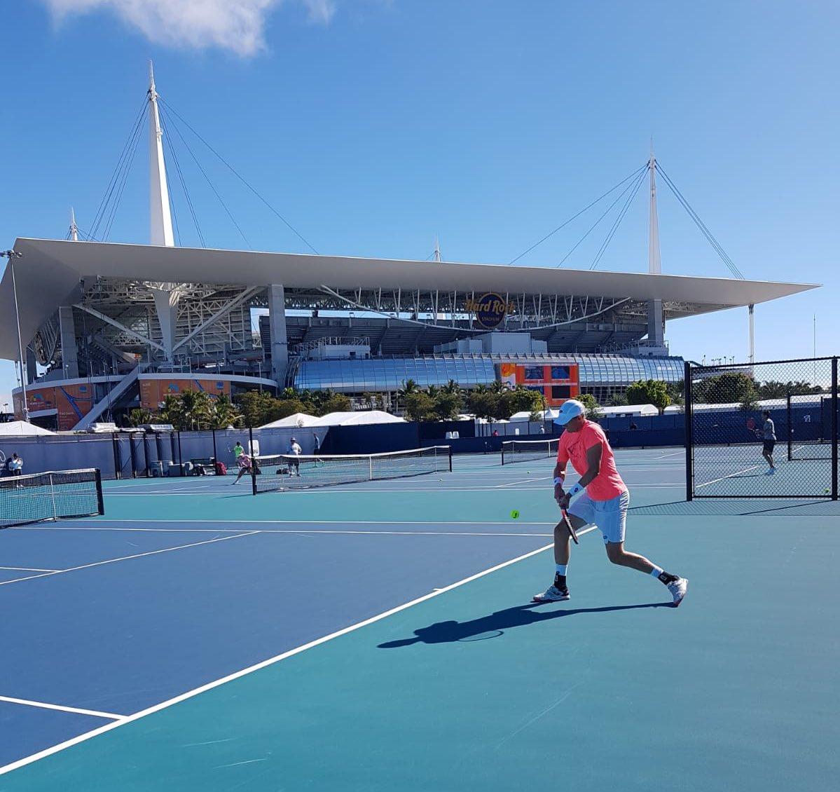 #ATPTour #Tennis RT KAndersonATP: Great first practice at the new MiamiOpen venue <br>http://pic.twitter.com/sHnRDqw6ei