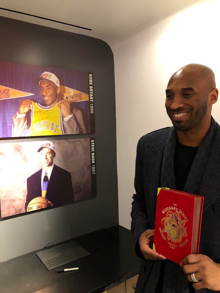 Last night @kobebryant spoke about his new children's book #Wizenard @NBASTORE NYC! 🏀📖