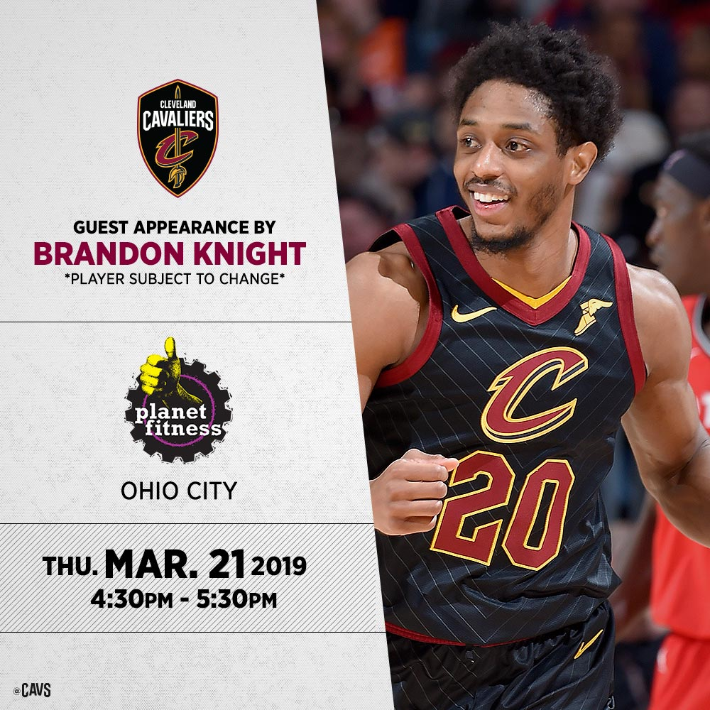 RT @cavs:  *** Stop by and say hello to @Goodknight11 TONIGHT at @PlanetFitness in Ohio City! 👍  #Cleveland #CAVS #AllForOne  #LeBronJames #StriveForGreatness #NBA #NBAAllStar #TeamLeBron https://twitter.com/cavs/status/1108707328143122439 …