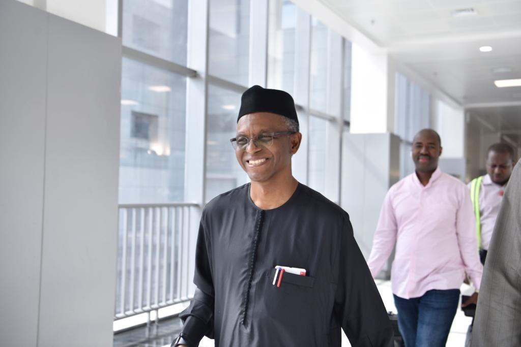 Ever smiling and cheerful Governor Nasir @elrufai at Nnamdi Azikiwe International Airport, Abuja. Next story! <br>http://pic.twitter.com/vJbhlaLMFj