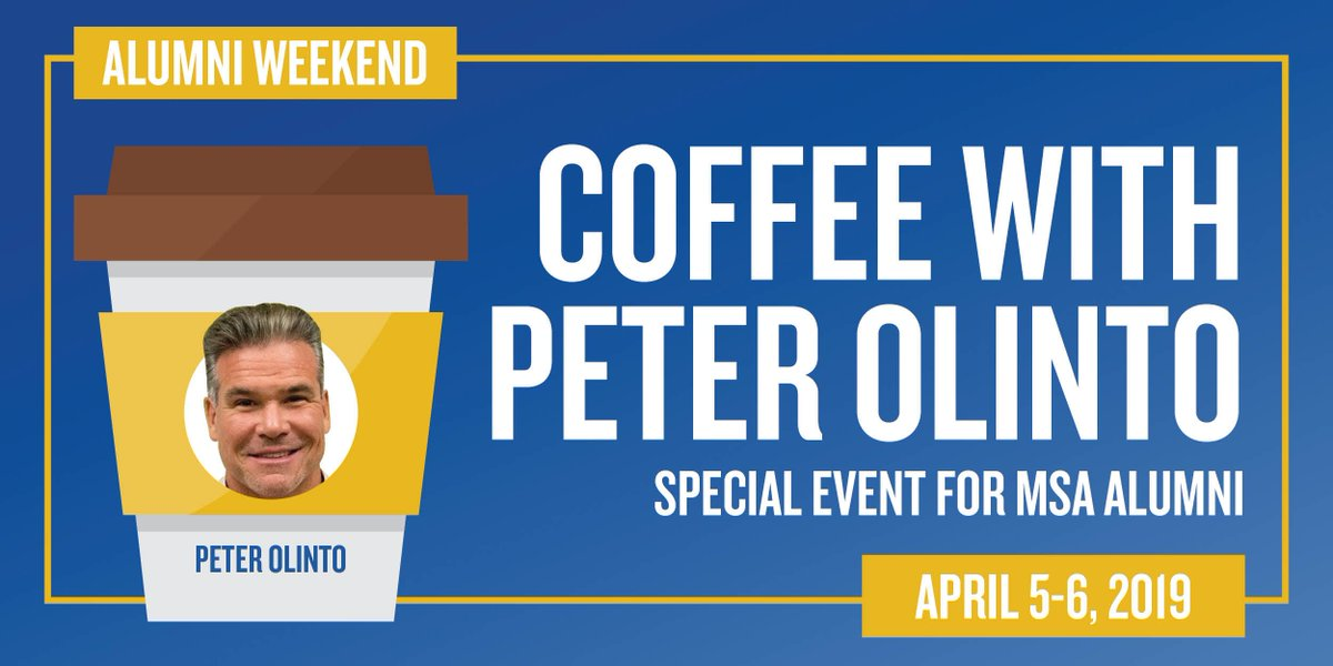 Peter Olinto would like to buy you a cup of coffee! Accounting and MSA #BizDeacs are invited to an Alumni Weekend networking event on April 6 with the @BeckerCPA National Instructor. Register for Alumni Weekend to take advantage of this opportunity » https://t.co/UCb9Jnk25k