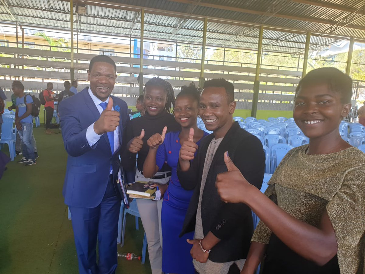 It was nice having motivation from you today @RichardMunang . At MKU today. Thank you. We learned a lot about leadership<br>http://pic.twitter.com/E5Vy9Lv08I