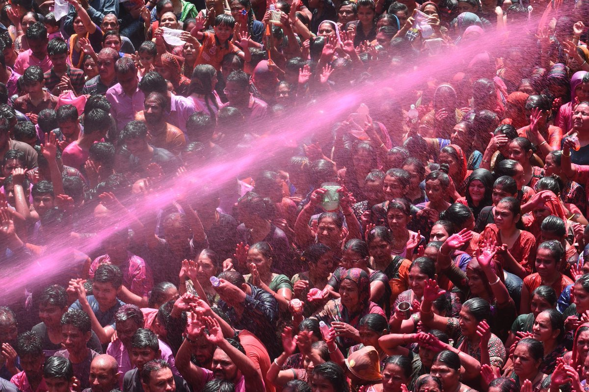 Millions of people in India are celebrating Holi, the colorful Hindu festival marking the beginning of spring. <br>http://pic.twitter.com/1awNkToFAK