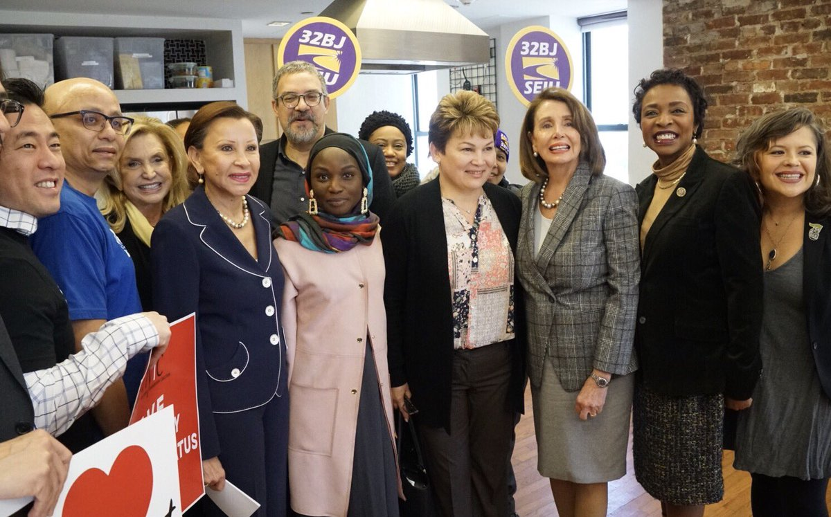Like so many states, cities, and towns, New York is home to DACA, TPS, and DED recipients.  They are a part of our community.  It's time to stand with our friends and neighbors in supporting #HR6 to #ProtectTheDream with @NydiaVelazquez and @RepYvetteClarke.