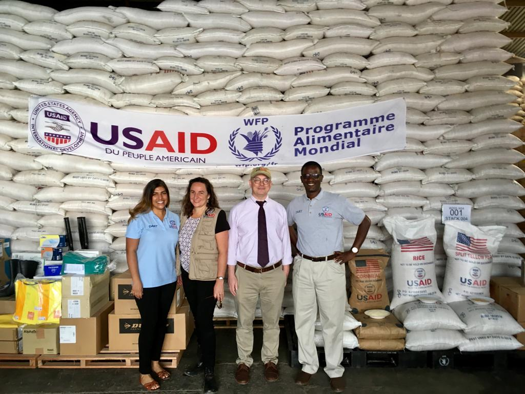 Members of our @USAID's #Ebola disaster team in #DRCongo toured this warehouse storing critical supplies like protective gear for responders & food, joining @AsstSecStateAF, @USAmbDRC & @USAmbRwanda. More on how our Ebola response: https://goo.gl/kUDBq4