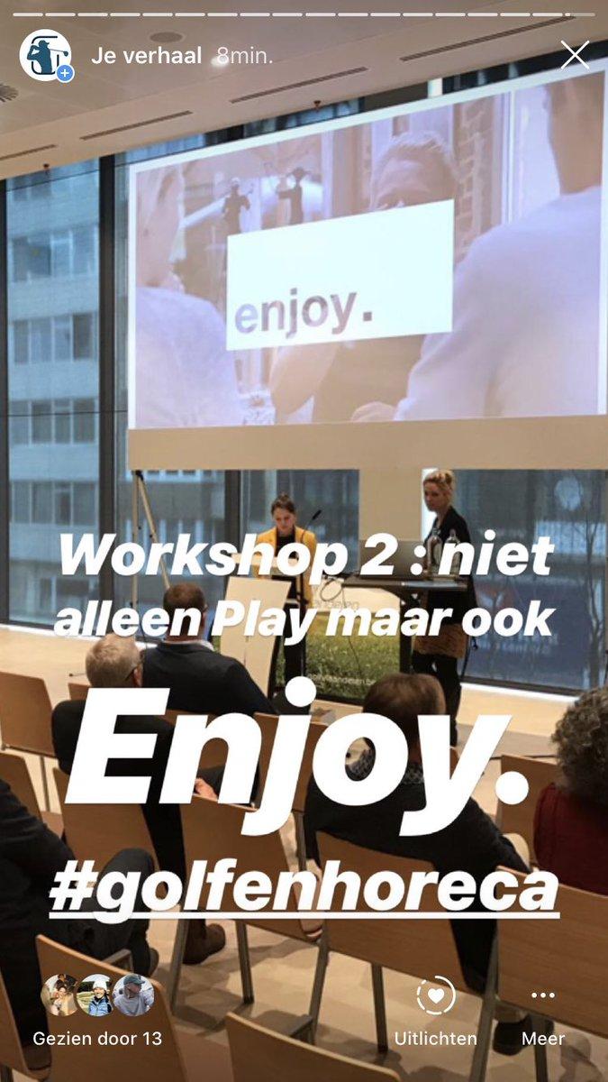 Workshop 2 : golf en horeca en workshop 3 over digitale golfbaan https://t.co/SF026bqso7