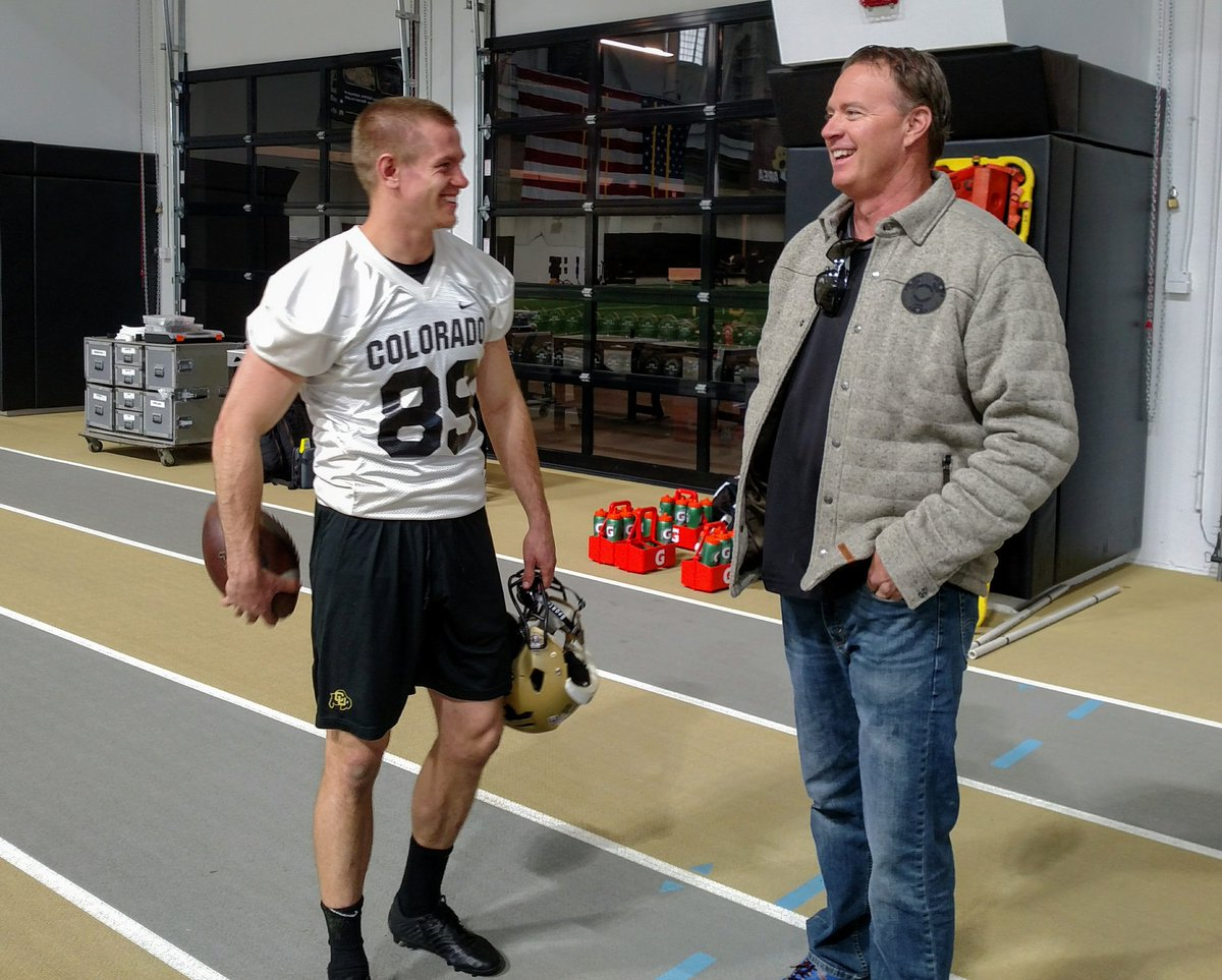 Getting expert advice - Buffs punter @Alex___Kinney talks with former Buffs All-American and Super Bowl winner Tom Rouen #relentless  #GoBuffs<br>http://pic.twitter.com/MXOjcSzj6z