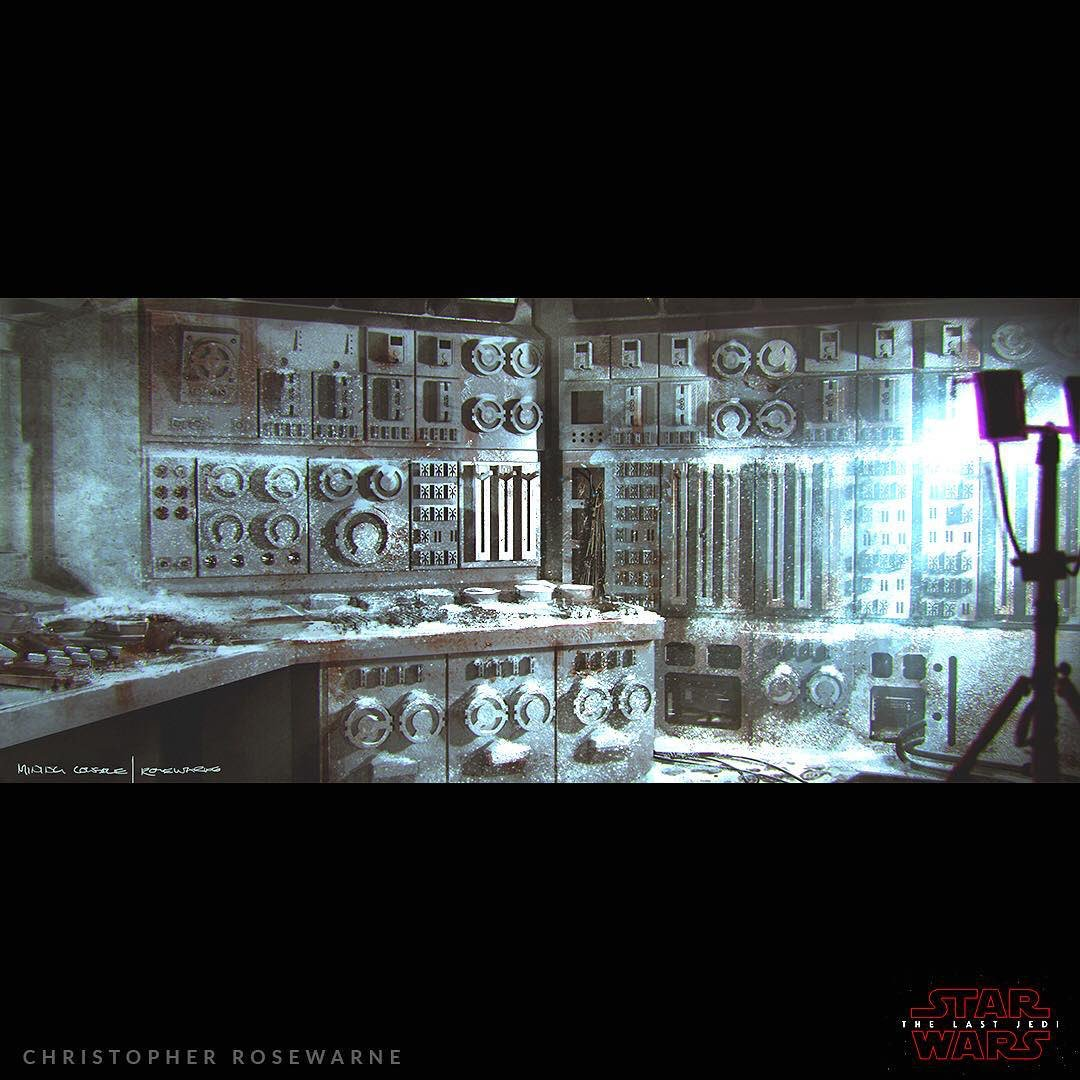 """""""#TheLastJedi: Working out the old control room tech dressing for the Crait control room set, simple shapes that could be moulded and repeated in panels for ease..."""" - concept artist Chris Rosewarne #StarWars   https://www. instagram.com/p/BvO7q0PFTew/  &nbsp;  <br>http://pic.twitter.com/o2EVCVFn9x &ndash; à Lucasfilm Ltd"""
