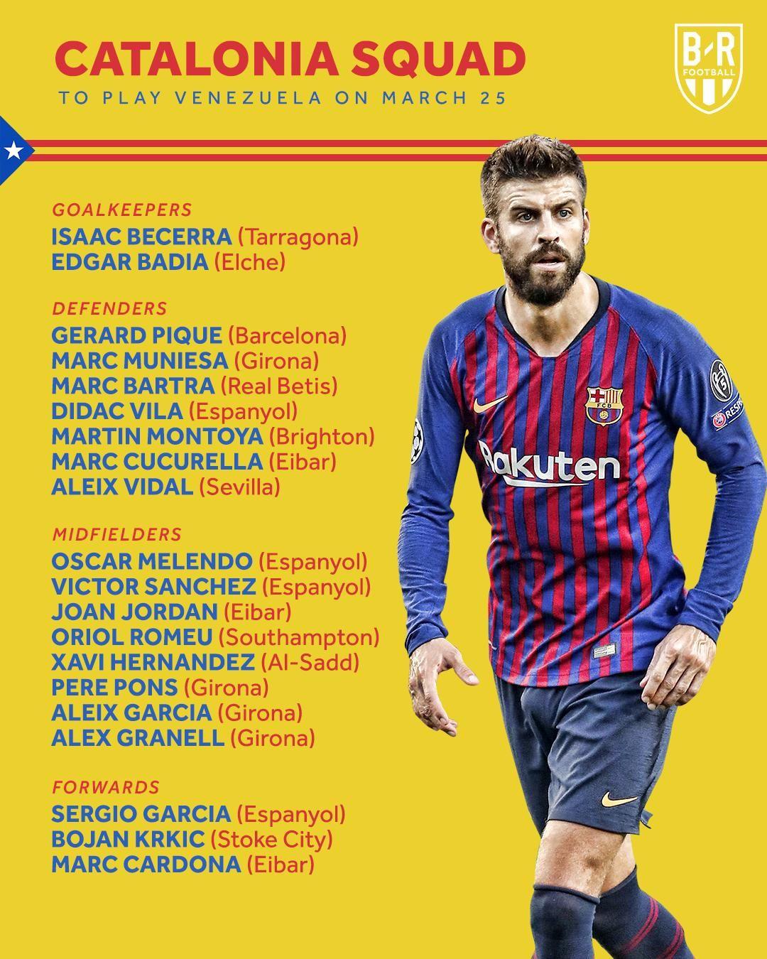 official photos 5ebd3 8173f OFFICIAL: Pique and Xavi called up for Catalonia - Tribuna.com