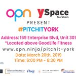 Image for the Tweet beginning: Today is our #PitchitYork event