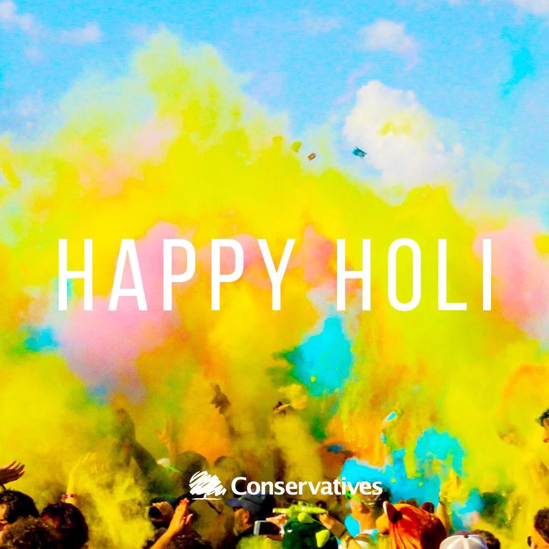 A very happy and colourful Holi to everyone celebrating here in the UK and across the world.  #HappyHoli<br>http://pic.twitter.com/5dRP3rZQ9y
