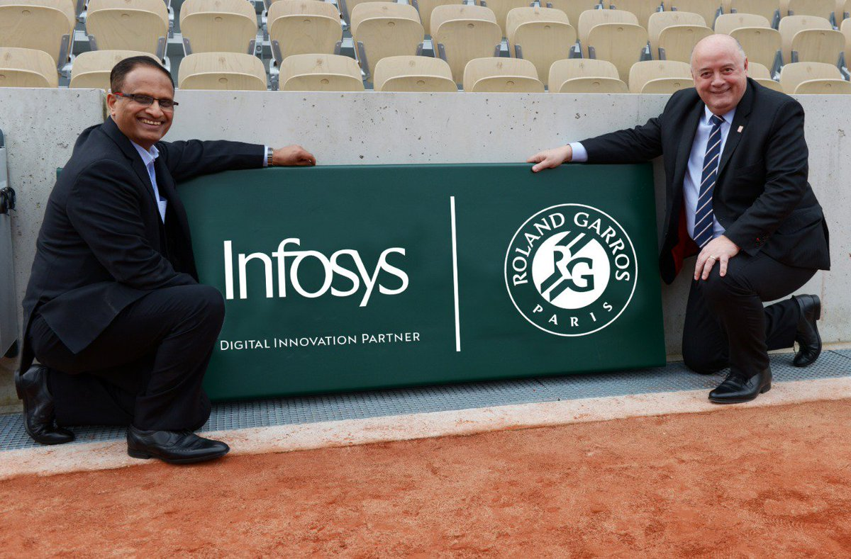 Today, we are delighted to announce a strategic 3 year partnership with @rolandgarros aimed at enriching #tennis by providing a new experience & leveraging our expertise in #digital technologies. Know more: https://infy.com/2HJptv9  #NavigateYourNext #RolandGarrosWithInfosys