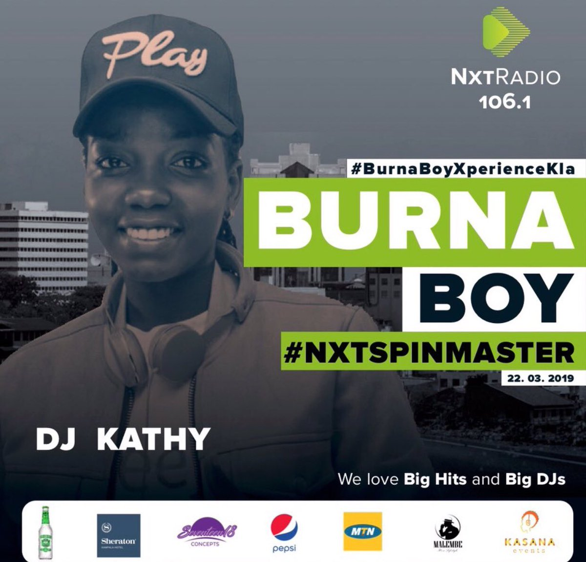 #BurnaBoyXperienceKLA #NxtSpinMaster  Kampala Here i come.. let&#39;s Make this Happen Superstar FemaleDJ256. Let the Music Speak <br>http://pic.twitter.com/fqZosenF7K