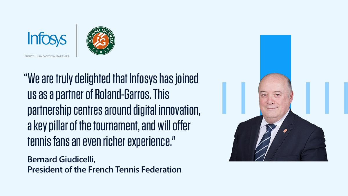 We're excited to partner with @rolandgarros to showcase how digital tech can enhance the boundaries of #tennis by leveraging data, insights & digital experiences. Read the press release to know more https://infy.com/2HEXOLX  #RolandGarrosWithInfosys #RG19 #NavigateYourNext