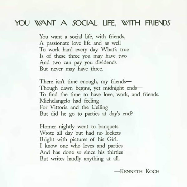 """""""You want a social life with friends...""""  Still the best thing I've ever read about """"work/life balance"""":  https://austinkleon.com/2018/01/23/the-best-thing-ever-written-about-work-life-balance/…"""