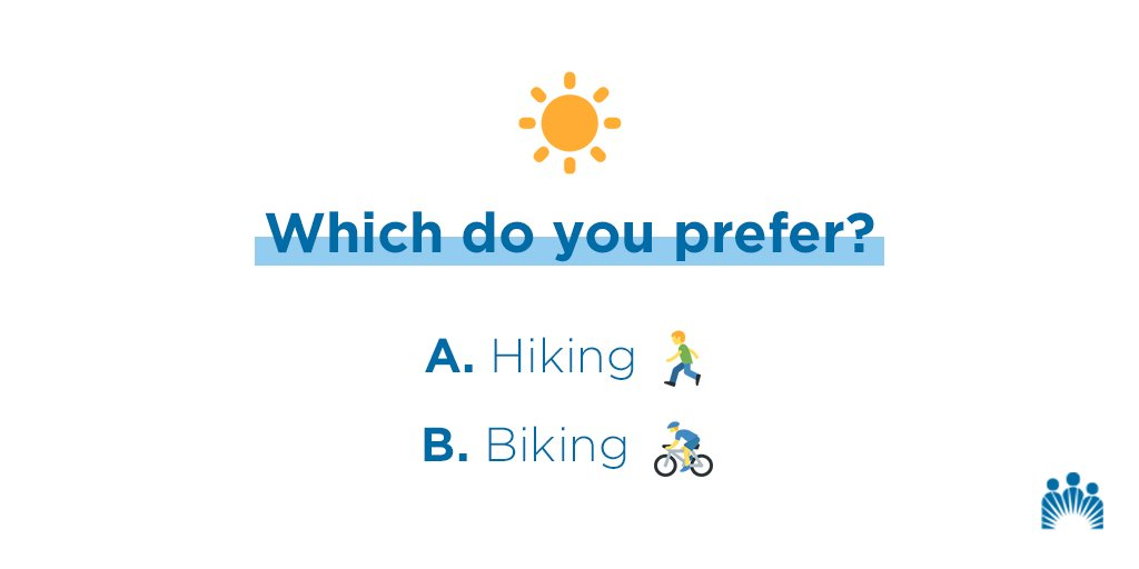 Happy first day of spring! Enjoy the outdoors with your favorite physical activity. Which do you prefer? https://k-p.li/2GTYQTN