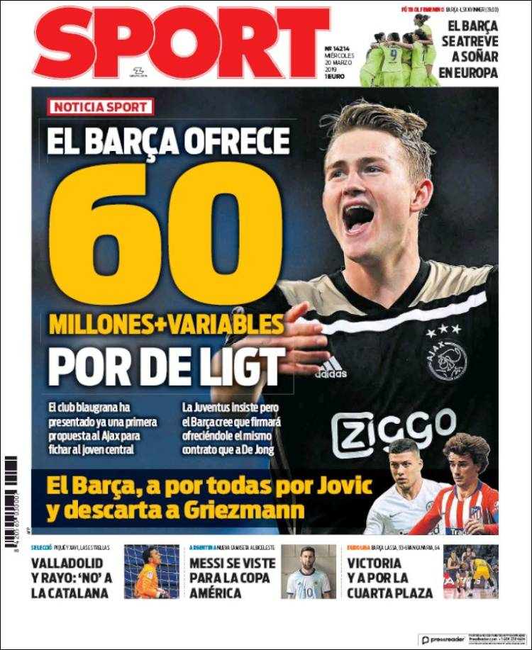 60 Million for De Ligt!  Do It!