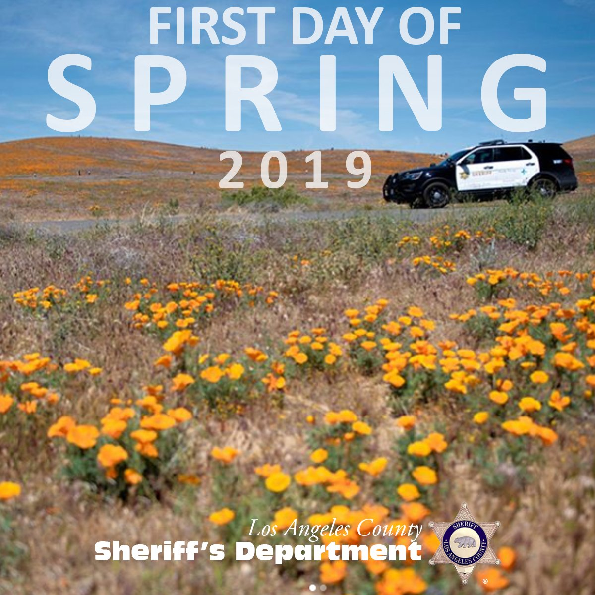 It's officially #firstdayofspring ! Alright #Spring you do your thing. We will do ours #LASD .