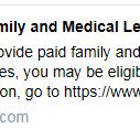 Image for the Tweet beginning: If you provide paid family