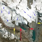 Image for the Tweet beginning: Soranano Glacier, Peru Separation and