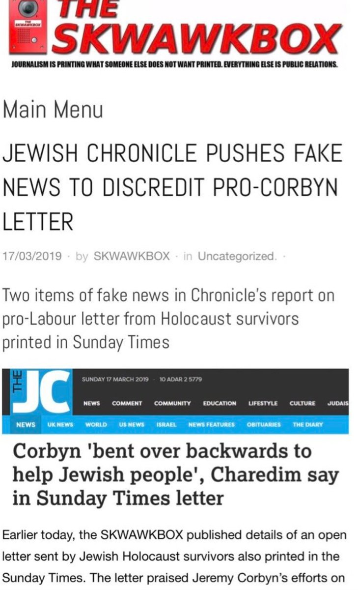 @skwawkbox pushing a letter signed by Holocaust survivors in support of Corbyn. Not only did half of them not know what they were signing but it was complied by Shraga Stern who is fighting a war against the Board of Deputies because of their progressive views on LGBT education.