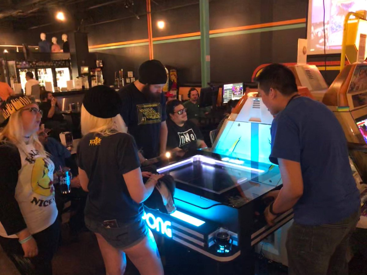 High praise for the @ataripongtable! Did you know you'll be able to play the coffee table version of this #Pong game at #CollisionConf. The #YRtech Experience Pavilion is the place to do it, thanks to #Markham, #YorkRegion-based @unisgames. https://t.co/ATzZdAxakD