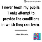 Image for the Tweet beginning: I never teach my pupils,