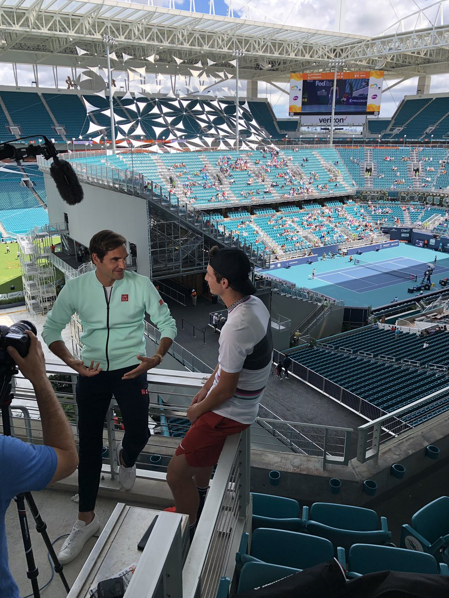 #ATPTour #Tennis What could these two be talking about?   #MiamiOpen<br>http://pic.twitter.com/BHVHErBPhE