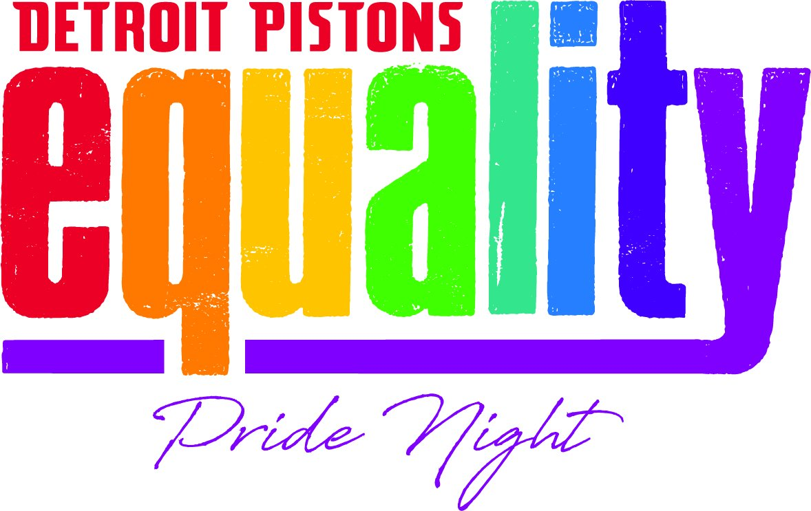 It's Pride Night next Thursday with @LGBTchamber when we take on Orlando.  Use this link for a ticket package that includes a #Pistons Equality T-shirt and a $5 proceed from each ticket sold will benefit a local LGBT charity you choose when you checkout.  http://Pistons.com/Pride