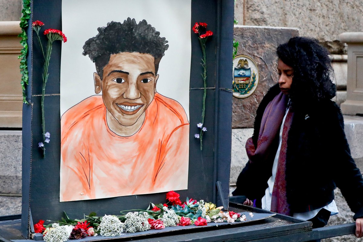 """The mother of Antwon Rose, an unarmed Black 17-year-old shot dead by a white police officer, wrote a letter asking prosecutors not to characterize her son as """"just another thug"""":  """"He was a rose that grew from concrete.""""  The officer is currently on trial for criminal homicide."""