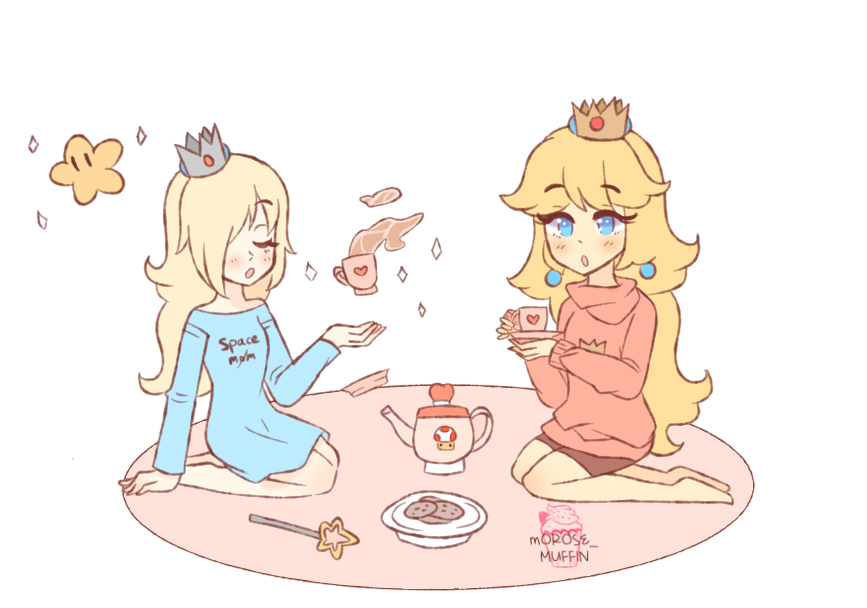 tea party, but rosie came to vent #SuperMarioOdyssey #supermario  #princesspeach #rosalina <br>http://pic.twitter.com/yNzOKaRsvv
