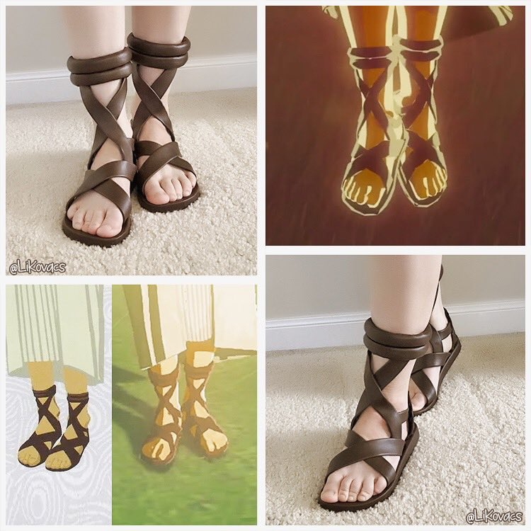 Zelda's sandals - #BreathoftheWild   Made these a couple years ago. I love the LoZ so much so I want to recreate things the best I can. It's like owning something that belongs to a character who is dear to me. It feels personal and makes the connection that much stronger.  #zelda <br>http://pic.twitter.com/vTXZeMl93I