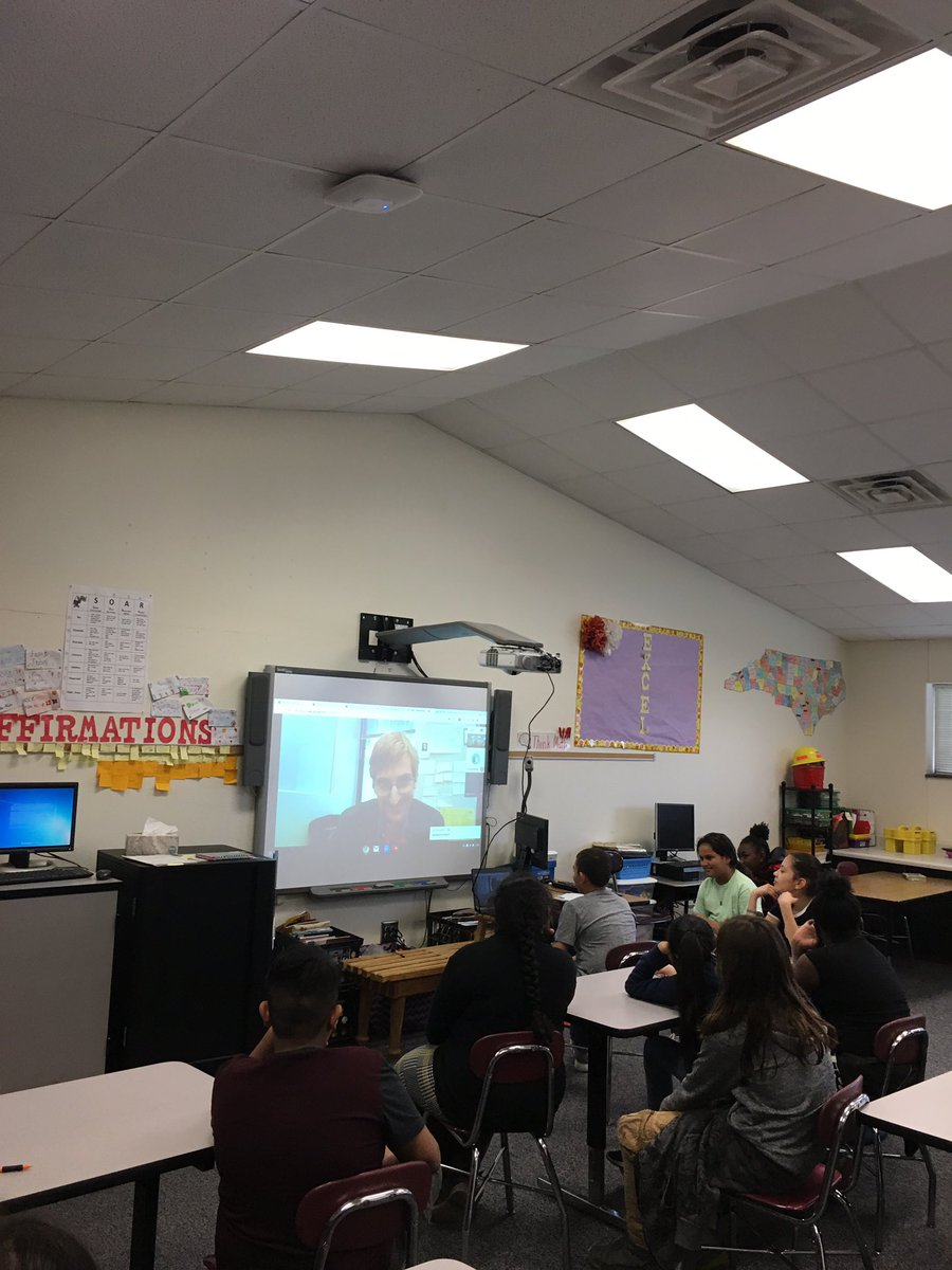 5th graders chatting with @dream_wakers and Ayden Jent...   the lessons he shared #bekind #payitforward #keepatit #setgoals<br>http://pic.twitter.com/dletEIfJfL