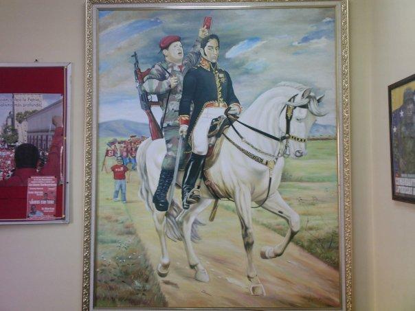 Chávez started showing up with Bolívar