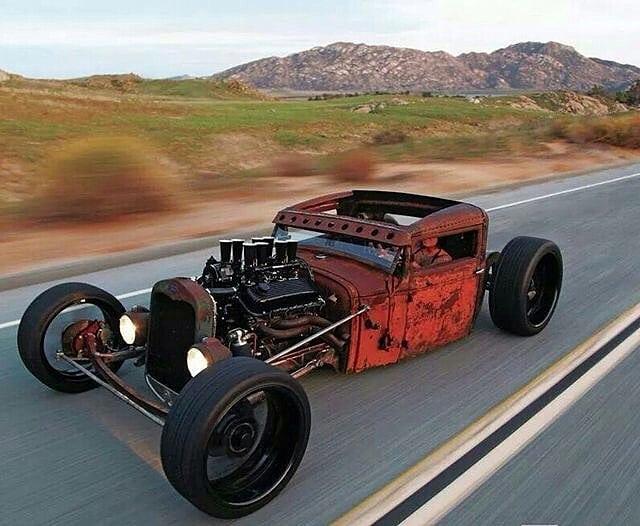#Car Awesome of the Day: #Steampunk-ish ⚙️ Rusty #RatRod #HotRod 🔧 via @ratandcustoms 📸 @dieselpunkratrod #SamaCars 🚗