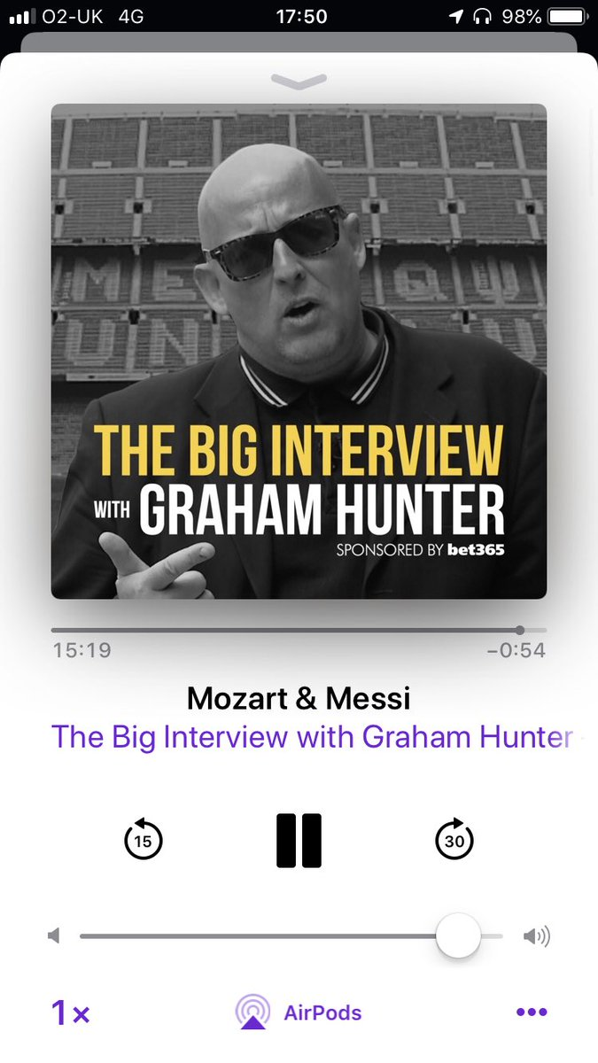 "Listening to this brilliant @GHpodcast  podcast by @BumperGraham and I'm genuinely welling up at the thought of the day I wake up and say to myself ""this is the last day ever I'm gonna watch him (Messi) play football""   Gonna be like a death 😥"